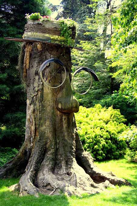 Old Tree Stump Ideas (26)