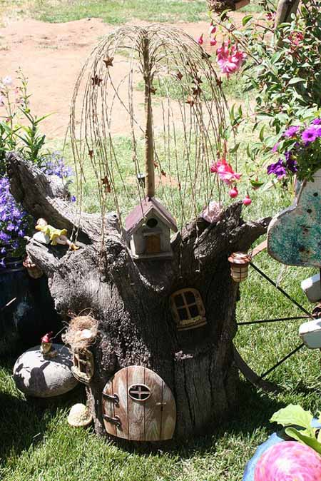 Old Tree Stump Ideas (29)